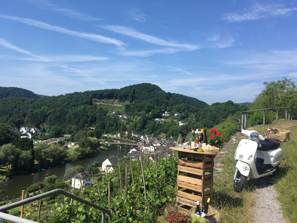 Wein Obernhof, Miniweinprobe Obernhof Aussicht