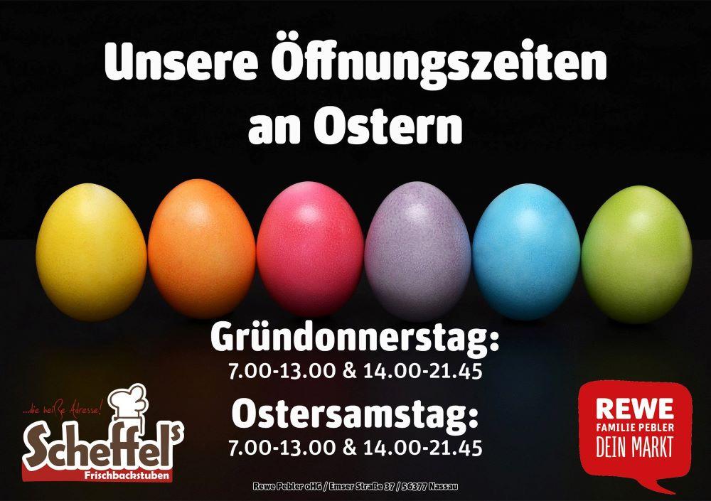 Rewe Ostersamstag öffnungszeiten
