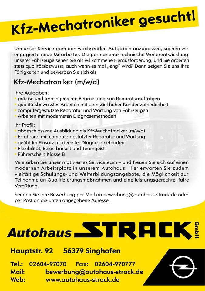 Autohaus Strack, Singhofen