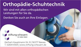 Stiftung Scheuern, Orthopädie-Schuhtechnik