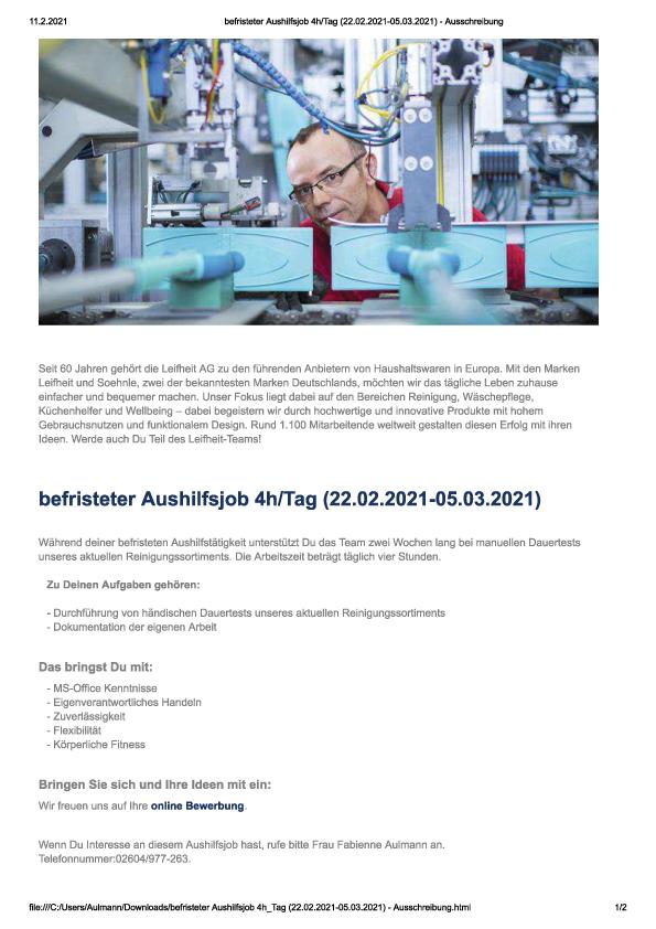 Leifheit Werksverkauf in Aktion